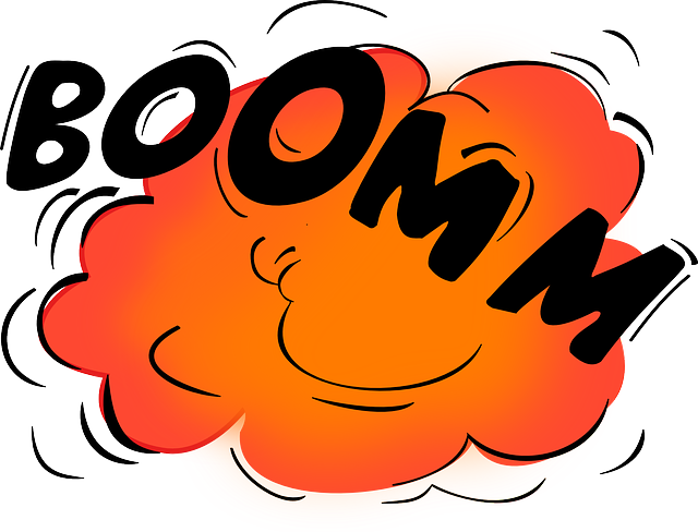 cartoon image of explosion